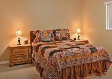 View of master bed